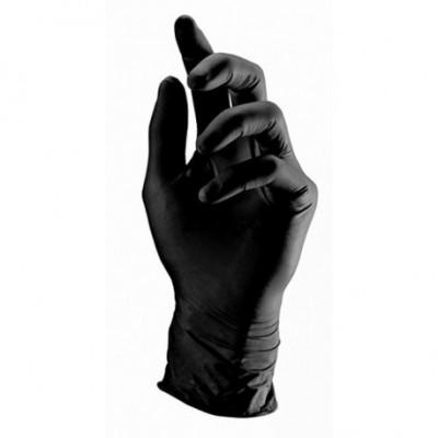 Juodos vienkartinės nitrilo pirštinės L
