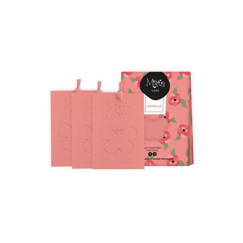Aromatinės kortelės namams Camellia 3 vnt