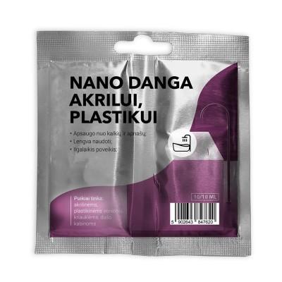 Nano danga plastikiniams, akriliniams ir organinio stiklo paviršiams dengti (10/10 ml)