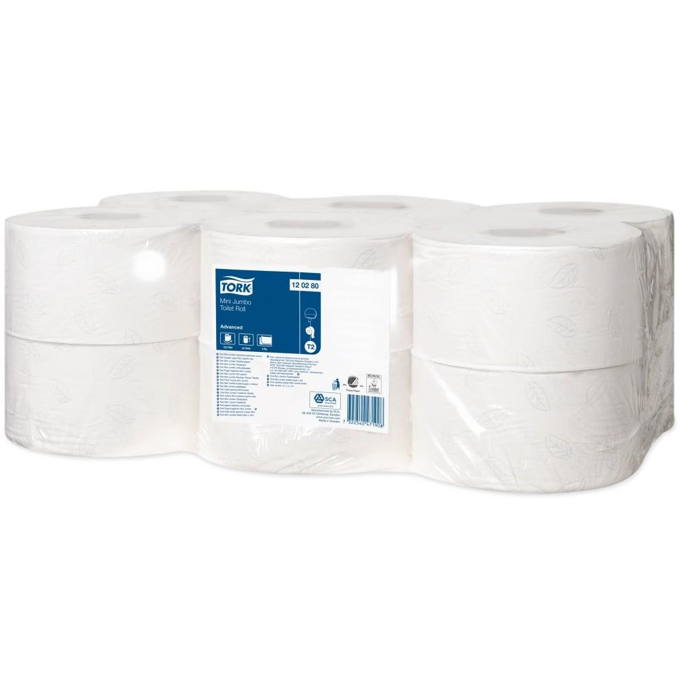 Tork Mini Jumbo 120280 tualetinio popieriaus ritinys